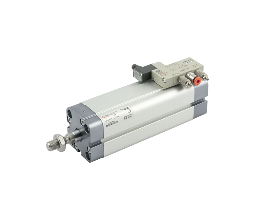 Compact cylinder with integrated valve - Series CCIV